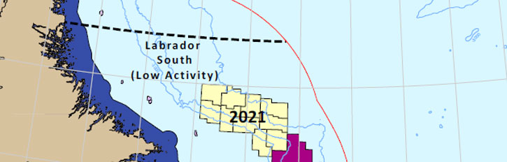 C-NLOPB Confirms 2021 Call for Bids in Labrador South Region and Announces Updates to Scheduled Land Tenure Timing